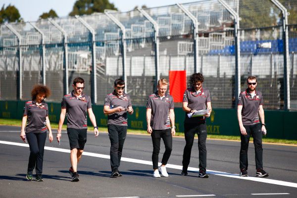 Track walk with Kevin Magnussen, Haas F1 Team.