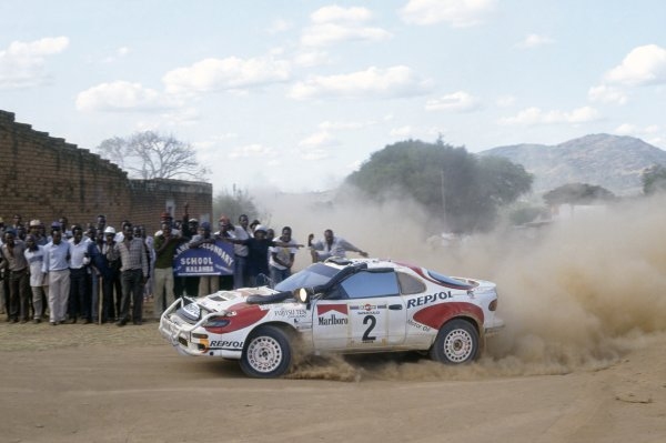 1992 World Rally Championship.Safari Rally, Kenya. 27 March-1 April 1992.Mikael Ericsson/Nicky Grist (Toyota Celica Turbo 4WD), 4th position.World Copyright: LAT PhotographicRef: 35mm transparency 92RALLY13