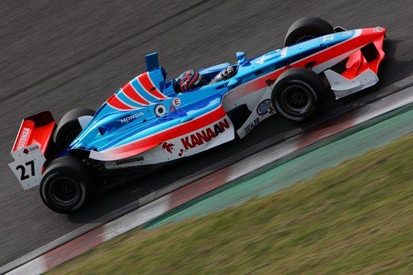 2007 Formula Nippon ChampionshipSuzuka Circuit, Japan17th - 18th November 2007Tony Kanaan (Kanaan Racing). 6th position. Action.World Copyright: Yasushi Ishihara/LAT Photographicref: Digital Image 2007FN_R9_022