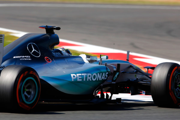 Silverstone, Northamptonshire, England. Friday 03 July 2015. Lewis Hamilton, Mercedes F1 W06 Hybrid. World Copyright: Steven Tee/LAT Photographic. ref: Digital Image _X0W9967