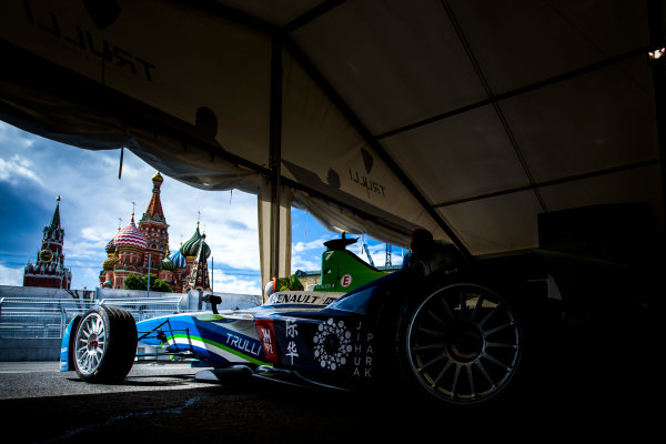 2014/2015 FIA Formula E Championship. Moscow ePrix, Moscow, Russia. Friday 5 June 2015 The car of Vitantonio Liuzzi (ITA)/Trulli Racing - Spark-Renault SRT_01E. Photo: Zak Mauger/LAT/Formula E ref: Digital Image _L0U0318