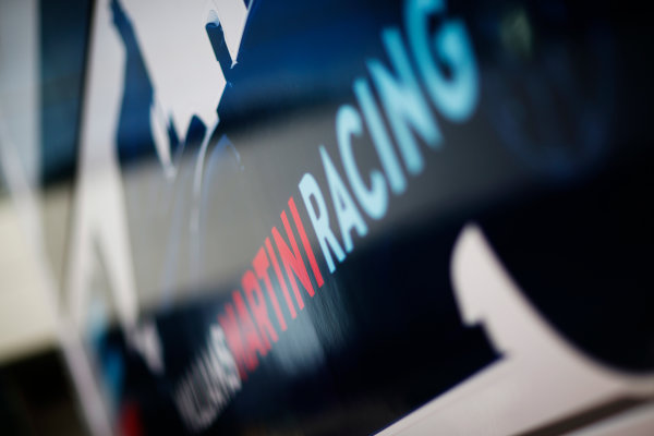 Red Bull Ring, Spielberg, Austria. Friday 19 June 2015. Williams Martini Racing logo on the side of the trucks. World Copyright: Alastair Staley/LAT Photographic. ref: Digital Image _R6T0846