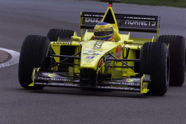2000 British Grand Prix.Silverstone, England. 21-23 April 2000.Jarno Trulli (Jordan EJ10 Mugen Honda) 6th position.World Copyright - LAT Photographic