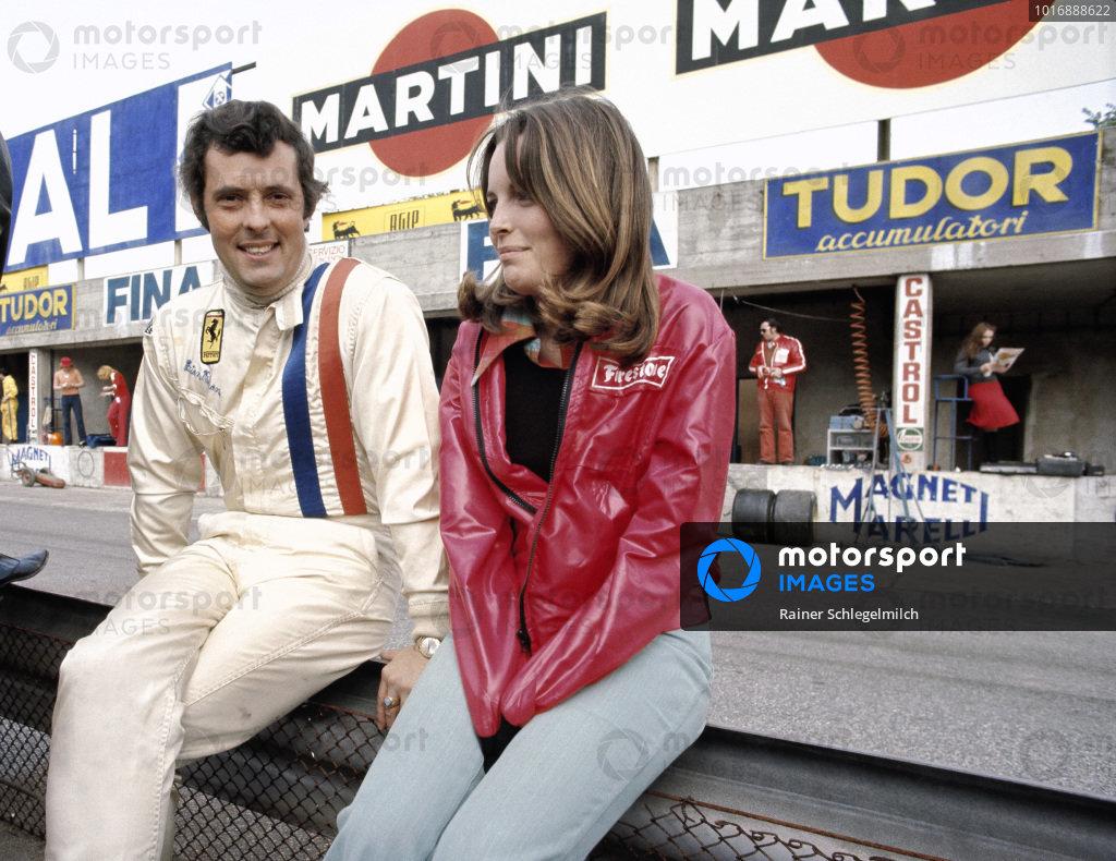 Brian Redman with Catherine Ickx, wife of Jacky.