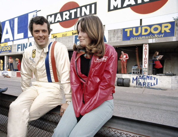 Brian Redman with Catherine Ickx, wife of Jacky.