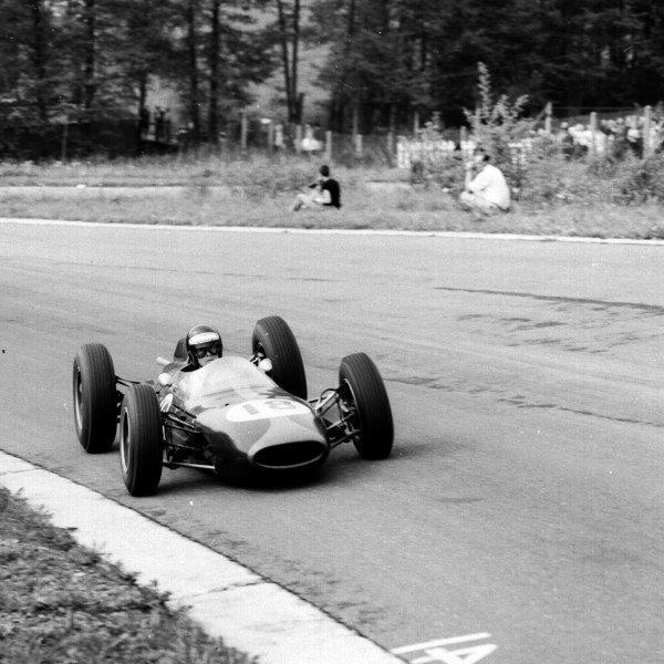 1963 Belgian Grand Prix.Spa-Francorchamps, Belgium.7-9 June 1963.Dan Gurney (Brabham BT7 Climax) 3rd position.Ref-19219.World Copyright - LAT Photographic
