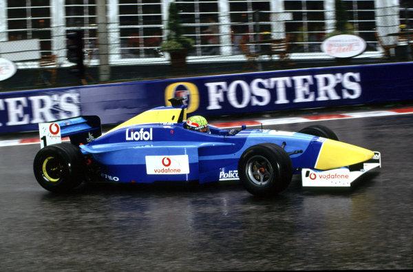 2001 F3000 ChampionshipSpa-Francorchamps, Belgium. 1st September 2001.Mark Webber (Super Nova racing), action.World Copyright: Martyn Elford/LAT Photographicref: 35mm Image A19