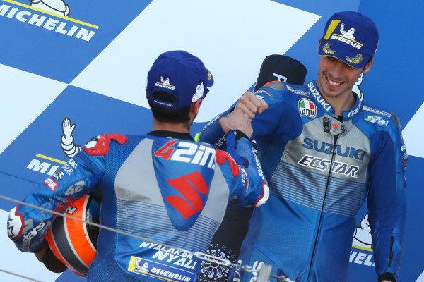Alex Rins, Team Suzuki MotoGP, Joan Mir, Team Suzuki MotoGP.
