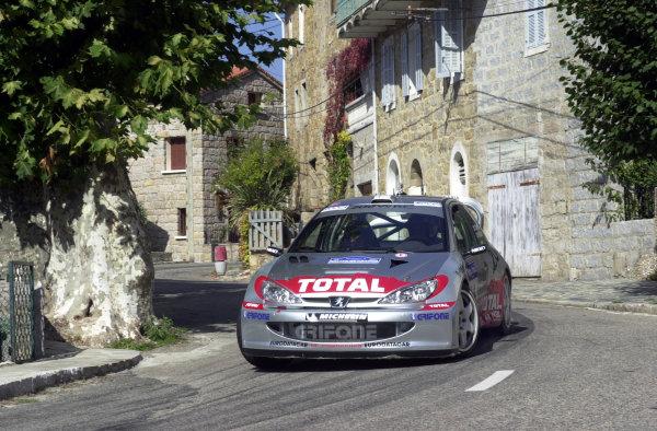 2001 World Rally Championship.Rallye de France, Ajaccio, Corsica, October 19-21.Harri Rovanpera on stage 3.Photo: Ralph Hardwick/LAT
