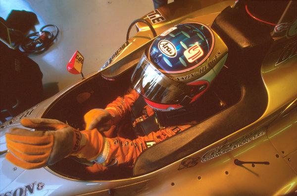 Monza, Italy.6-8 September 1996.Rubens Barrichello (Jordan 196 Peugeot) 5th position.Ref-96 ITA 34.World Copyright - LAT Photographic