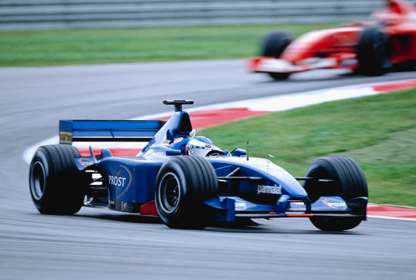 2001 Malaysian Grand Prix.Sepang, Kuala Lumpar, Malaysia. 16-18 March 2001.Jean Alesi (Prost AP04 Acer).Ref-01 MAL 49.World Copyright - Lorenzo Bellanca/LAT Photographic