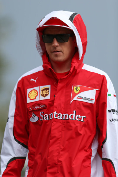 Kimi Raikkonen (FIN) Ferrari at Formula One World Championship, Rd16, United States  Grand Prix, Practice, Austin, Texas, USA, Friday 23 October 2015.