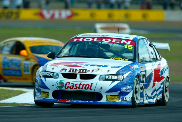 2002 Australian V8 Supercar Championship R9 QLD 500 Queensland, Australia 15th September 2002Kmart Racing Andy Priaulx and Yvan MullerWorld Copyright - Mark Horsburgh/LAT Photographicref: Digital File Only