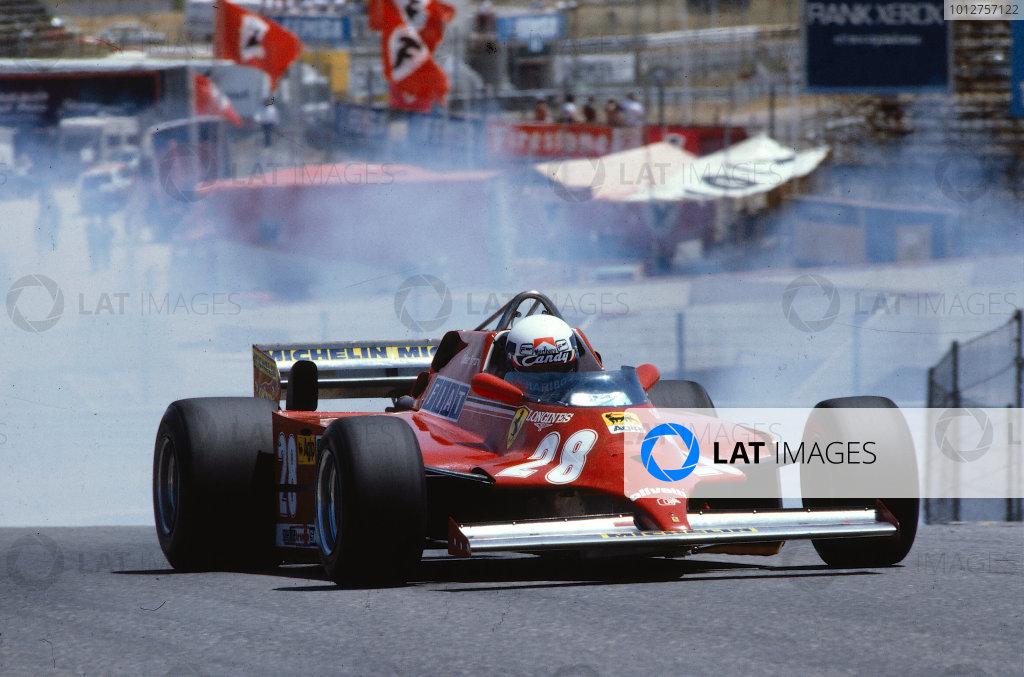 1981 Spanish Grand Prix.Jarama, Spain.19-21 June 1981.Didier Pironi (Ferrari 126CK)Ref-81 ESP 03.World Copyright - LAT Photographic