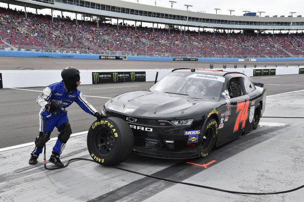 #74: Mike Harmon, Mike Harmon Racing, Chevrolet Camaro Time For A Hero