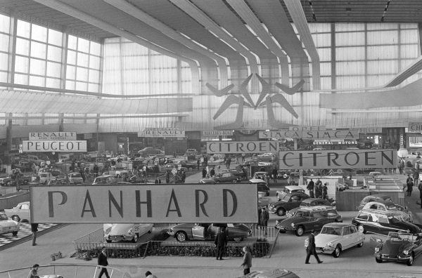 View across the show hall with the Citroen stand in the foreground.