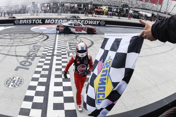 #20: Christopher Bell, Joe Gibbs Racing, Toyota Supra Rheem, wins the Alsco 300.