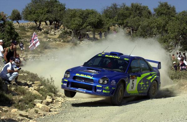 2001 World Rally ChampionshipCyprus Rally June 1-3, 2001Richard Burns on Stage 5Photo: Ralph Hardwick/LAT