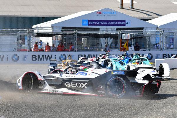 Jose Maria Lopez (ARG), GEOX Dragon Racing, Penske EV-3, goes sideways