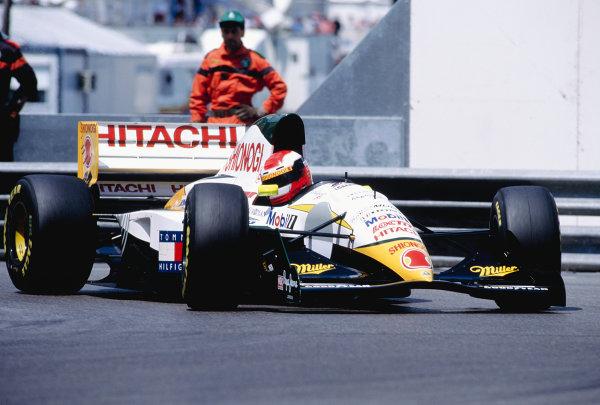 1994 Monaco Grand Prix.Monte Carlo, Monaco. 12-15 May 1994.Johnny Herbert (Lotus 107C Mugen Honda).Ref-94 MON 82.World Copyright - Martyn Elford/LAT Photographic
