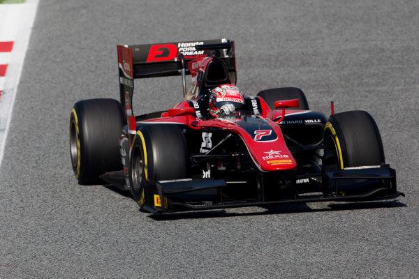 Circuit de Barcelona Catalunya, Barcelona, Spain. Tuesday 14 March 2017. Nobuharu Matsushita (JPN, ART Grand Prix). Action.  Photo: Alastair Staley/FIA Formula 2 ref: Digital Image 585A8001