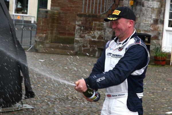 2017 Prestone MSA British Rally Championship,  Pirelli International Rally, Carlisle. 29th - 30th April 2017. Spencer Wilkinson / Glyn Thomas Subaru Impreza. World Copyright: JEP / LAT Images.