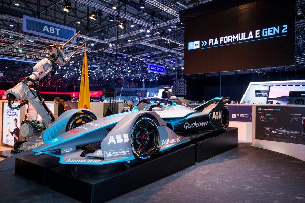 2017/2018 FIA Formula E Championship. Geneva Motor Show Tuesday 6 March 2018. The FIA Formula-E Gen2 car is unveiled. Photo: Sam Bloxham/LAT/Formula E ref: Digital Image _W6I3924