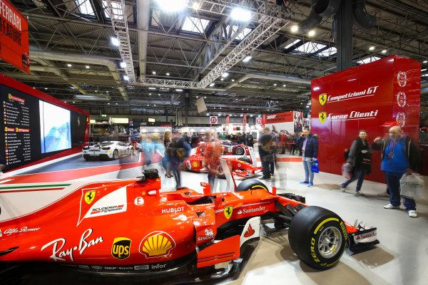 Autosport International Exhibition. National Exhibition Centre, Birmingham, UK. Sunday 14th January 2018. The Ferrari stand.World Copyright: Mike Hoyer/JEP/LAT Images Ref: AQ2Y9695