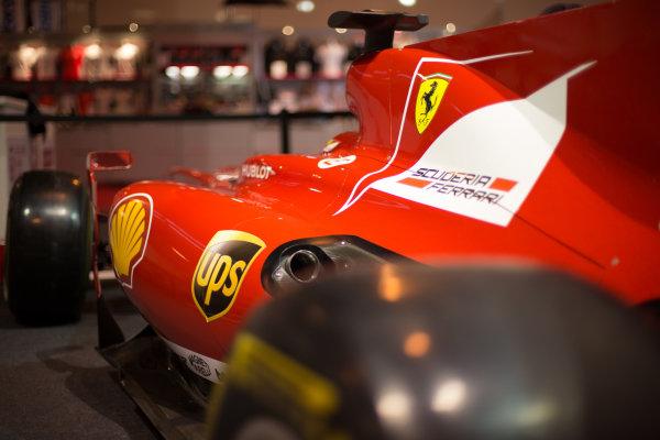 Ferrari F1 car. Autosport International Show, NEC, Birmingham, England, Day One, 9 January 2014.