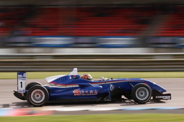 2014 British F3 International Series, Thruxton, England. 16-17 August 2014. Li Zhi Cong (CHN) Carlin Dallara Volkswagen. World Copyright: Ebrey / LAT Photographic.