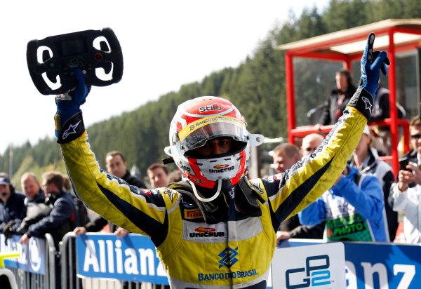 2014 GP2 Series Round 8. Spa-Francorchamps, Spa, Belgium. Sunday 24 August 2014. Felipe Nasr (BRA, Carlin)  Photo: Jed Leicester/GP2 Series Media Service. ref: Digital Image _JED9126