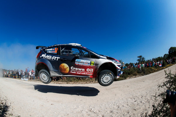 Gus Greensmith airborne on Rally Argentina