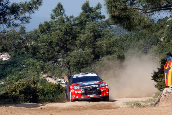 Round 05-Rally Italia Sardegna. 05th-08th May 2011.Petter Solberg, Citroen WRC, Action.Worldwide Copyright: McKlein/LAT