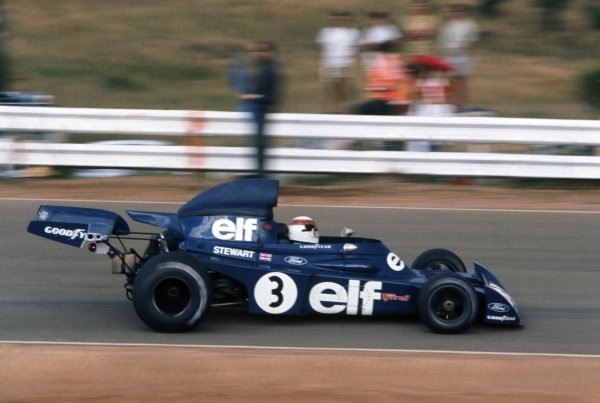 1973 South African Grand Prix.Kyalami, South Africa. 3 March 1973.Jackie Stewart, Tyrrell 006-Ford, 1st position, action.World Copyright: LAT PhotographicRef: 35mm transparency 73SA