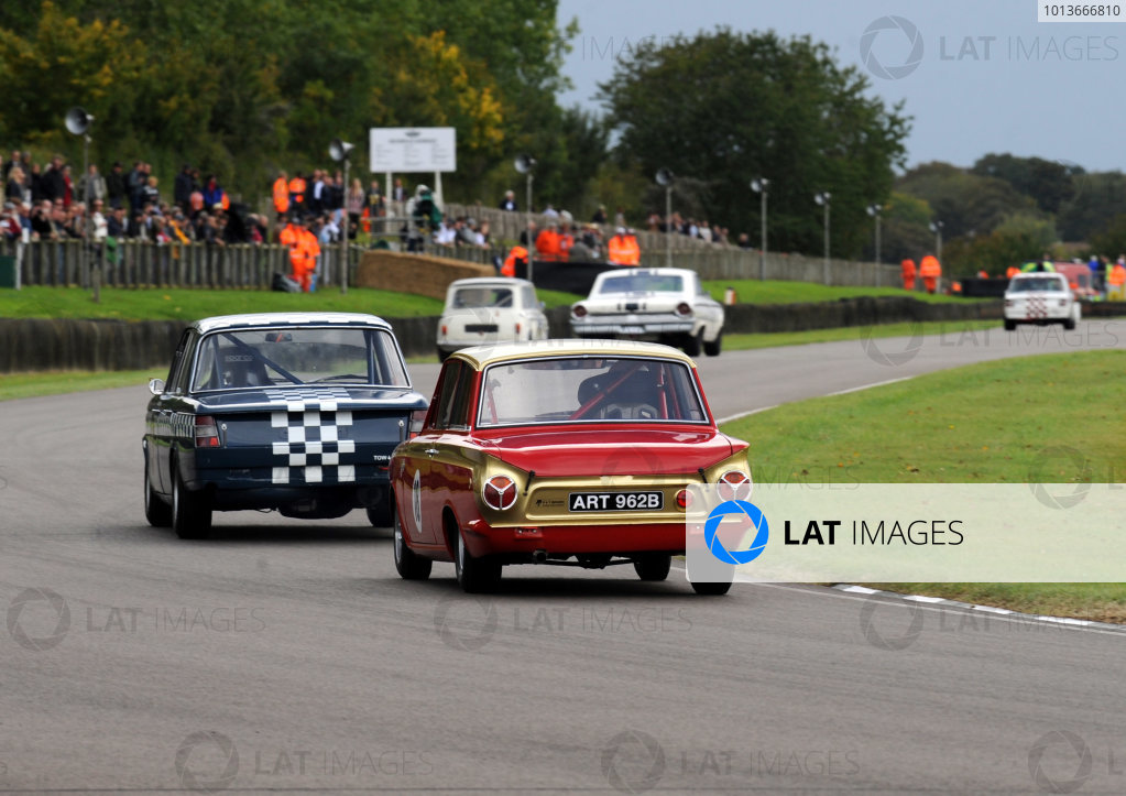 Goodwood Estate, West Sussex, 15th - 18th September 2011 St Mary's Trophy Race 2 Henry MANN, Ford-Lotus Cortina Mk1. World Copyright:Jeff Bloxham/LAT Photographic Ref: Digital Image
