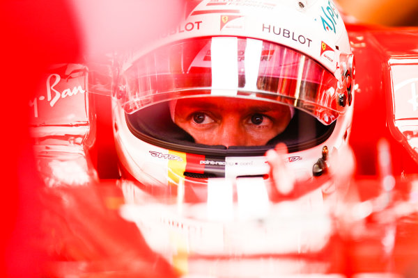 Circuit of the Americas, Austin, Texas, United States of America. Friday 20 October 2017. Sebastian Vettel, Ferrari. World Copyright: Zak Mauger/LAT Images  ref: Digital Image _X0W3906