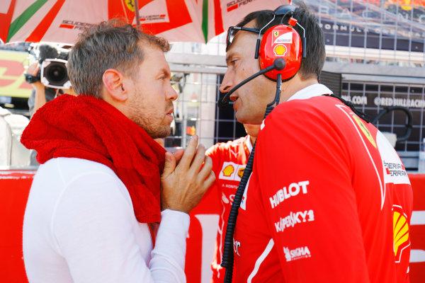 Suzuka Circuit, Japan. Sunday 08 October 2017. Sebastian Vettel, Ferrari, on the grid. World Copyright: Steven Tee/LAT Images  ref: Digital Image _R3I7797