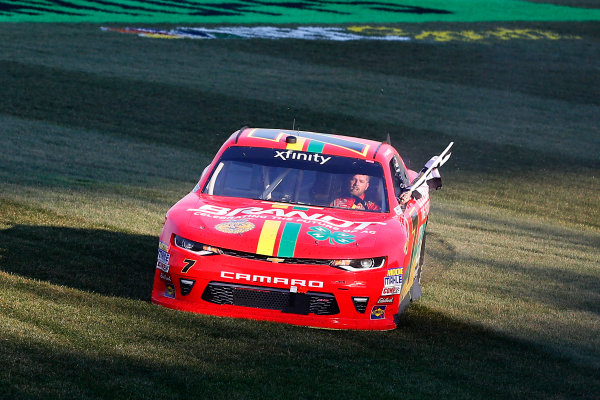 NASCAR XFINITY Series TheHouse.com 300 Chicagoland Speedway, Joliet, IL USA Saturday 16 September 2017 Justin Allgaier, BRANDT / Celebrating the Future of AG Chevrolet Camaro celebrates his win  World Copyright: Russell LaBounty LAT Images