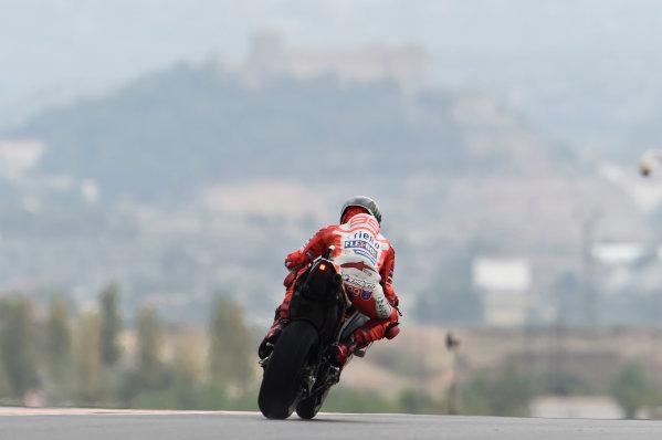 2017 MotoGP Championship - Round 14 Aragon, Spain. Friday 22 September 2017 Jorge Lorenzo, Ducati Team World Copyright: Gold and Goose / LAT Images ref: Digital Image 693835