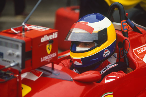 Silverstone, England. 8th - 10th July 1988. Michele Alboreto (Ferrari F187/88C), retired, portrait.  World Copyright: LAT Photographic. Ref: 88GB06