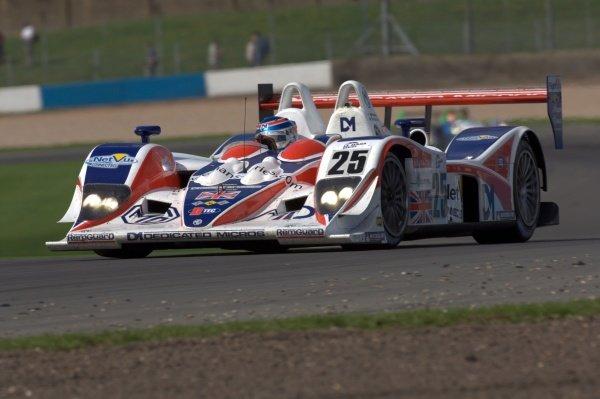Mike Newton (GBR) RML MG Lola EX264 AER. Le Mans Series, Rd4, Donington Park, England, 28 August 2006. DIGITAL IMAGE