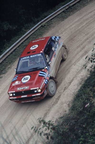 1989 World Rally Championship.Sanremo Rally, Italy. 8-12 October 1989.Miki Biasion/Tiziano Siviero (Lancia Delta Integrale 16V), 1st position.World Copyright: LAT PhotographicRef: 35mm transparency 89RALLY06