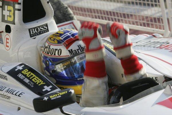 2005 GP2 Series - BahrainSakhir, Bahrain28th-30th September 2005Friday race 22005 GP2 champion Nico Rosberg (D, ART Grand Prix) celebrates victory in parc ferme.Copyright: GP2 Series Media Service ref: Digital Image Only