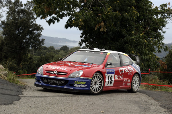 2003 FIA World Rally Champs. Round Twelve Corsica Rally 16th-19th October 2003.Sebastien Loeb, Citroen, action World Copyright: McKlein/LAT