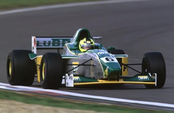 International Formula 3000 Championship Nurburgring, Germany. 19th - 20th May 2000 Race winner Bruno Junqueira (Petrobras Jnr) action World - Bellanca/LAT Photographic