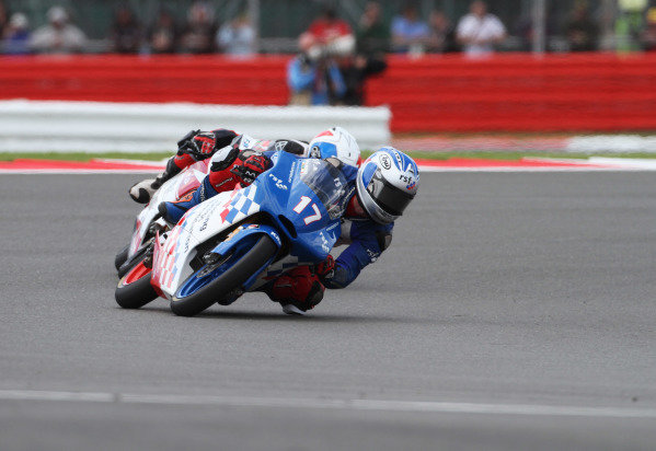 British Grand Prix.  Silverstone, England. 15th-17th June 2012.  Moto3. John McPhee, Racing Steps KRP Honda.  World Copyright: Kevin Wood/LAT Photographic.  ref: Digital Image IMG_8788a