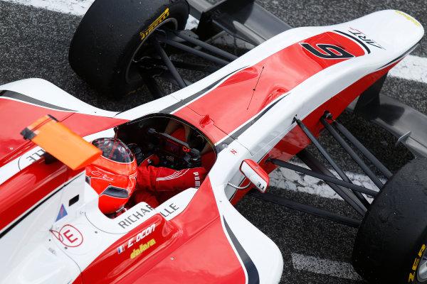 2014 GP3 Series Test 1. Estoril, Portugal.  Thursday 19 March 2015. Esteban Ocon (FRA, ART Grand Prix)  Photo: Sam Bloxham/GP3 Series Media Service. ref: Digital Image _SBL0624
