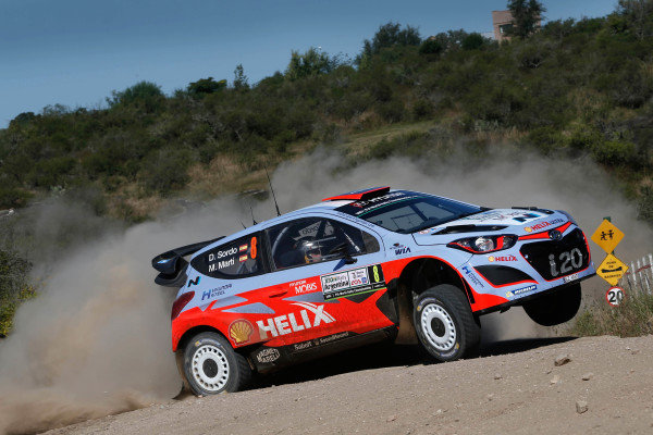 Dani Sordo (ESP) / Marc Marti (ESP) Hyundai i20 WRC at World Rally Championship, Rd4, Rally Argentina, Preparations & Shakedown, Carlos Paz, Argentina, 22 April 2015.