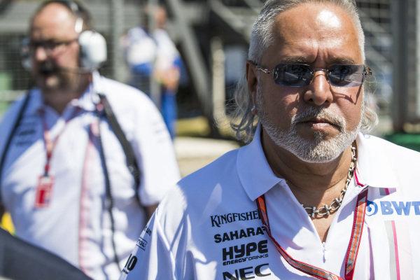 Vijay Mallya, Team Principal and Managing Director, Force India.