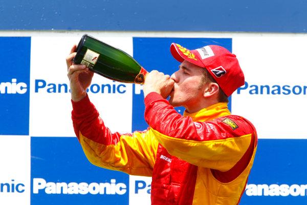 Round 3 Istanbul Park, Istanbul Turkey 30th May. Sunday Race.Dani Clos (ESP, Racing Engineering) celebrates his victory on the podium. Photo: Glenn Dunbar/GP2 Media Service.Ref: _G7C4984 jpg